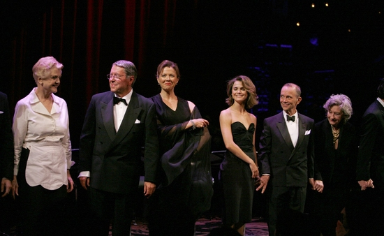 Angela Lansbury, Brian Bedford, Annette Bening, Keri Russell, Joel Grey and Zoe Caldwell at ALL ABOUT EVE Benefit Curtain Call