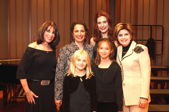 Backstage with Kate Linder, Dr. Iris Levine, Rachel York & Gloria Allred and the evenings young Glinda and Elphaba played by Summer Lichtenberg and Grace Privett-Mendoza