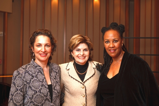 Gloria Allred with newlyweds VOX Artistic Director Dr. Iris Levine and Lesili Beard