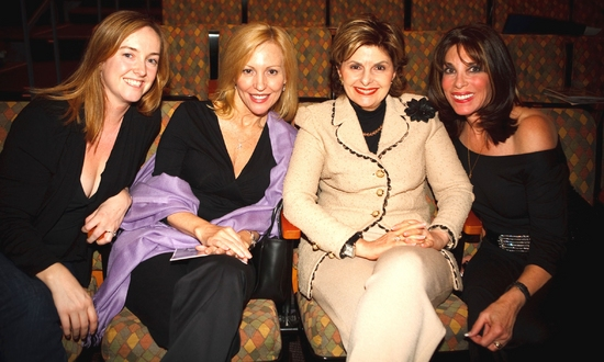 Front row at Intermission with Loriane Ralph, Mary Lamansky (Rachel York's sister), Gloria Allred & Kate Linder