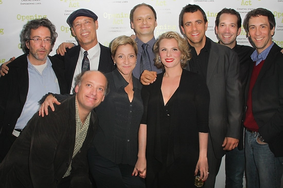 back row: Warren Light, Kevin Geer, Michael Mastro, Joseph Lyle Taylor, Jeffery Binder, Robert Sella - front row: Frank Wood, Edie Falco, and Angelica Torn