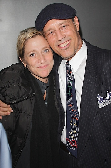 Edie Falco and Kevin Geer
