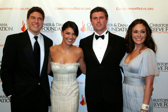 Will Reeve, Jessica Szohr, Matthew Reeve and Lindsay Price