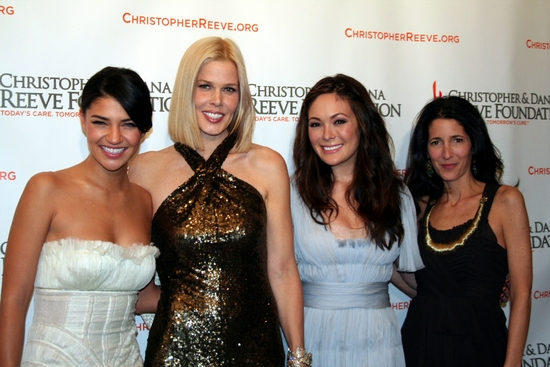 Jessica Szohr, Mary Alice Stephenson, Lindsay Price and Guest at Christopher & Dana Reeve Foundation Gala