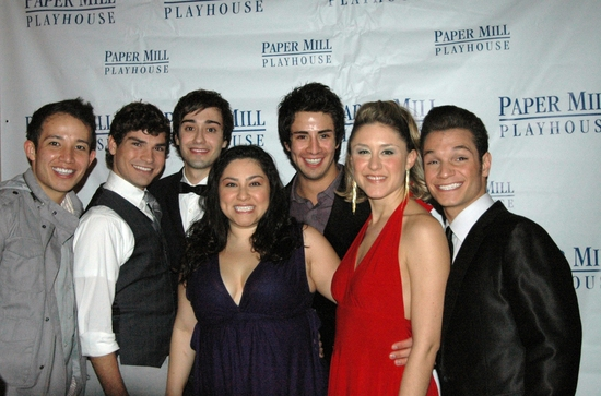 Joseph Morales, Dennis Necsary, Danta Russo, Joline Mujica, Sean Ewing, Jessica Rochwarger, and Christroper Messina at HIGH SCHOOL MUSICAL Opens at Paper Mill