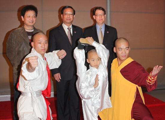 front: , Yu Fei, Wang Sen, and Zhang Zhigang back: Xue Weijun, and Robert Nederlander, Jr., Li Zhi-Xiang