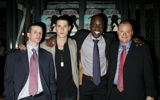 Brad Fleischer, Hale Appleman, Ato Essandoh and Larry Clarke at 'STREAMERS' Opening Night