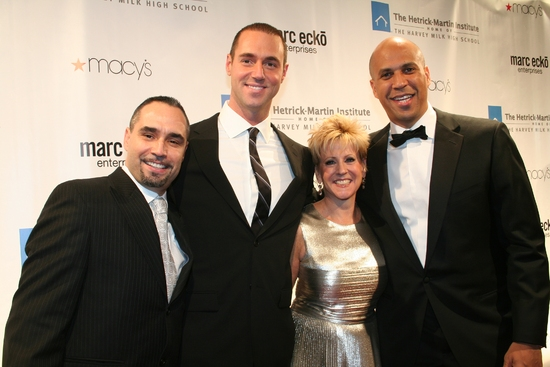Thomas Krever, Rob Smith, Bari Mattes and Mayor Cory Booker