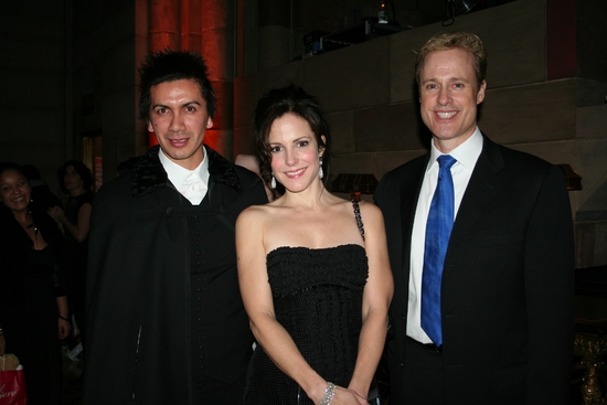 Enrique Alarcon (Choreographer), Mary-Louise Parker and Glenn Connolly (Sotheby's International Realty)