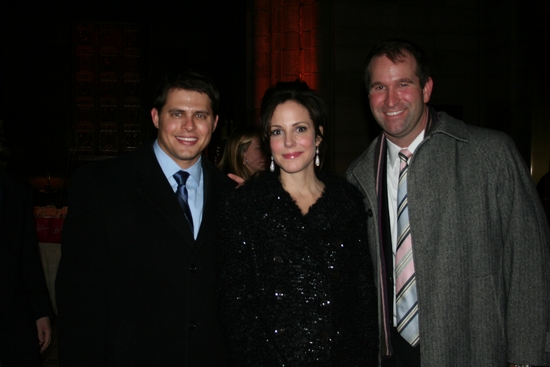 Eric Berger (Credit-Suisse), Mary-Louise Parker and Todd Sears (Credit-Suisse)