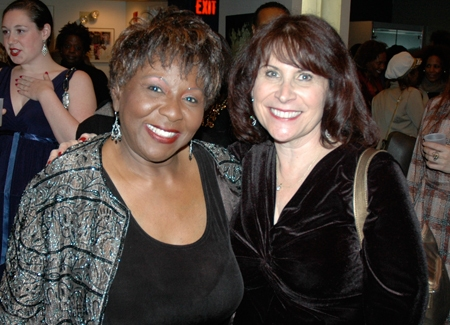Cast member Sandra Reaves-Phillips and Sandra Lanman -former Crossroads publicist and current Rutgers University publicist