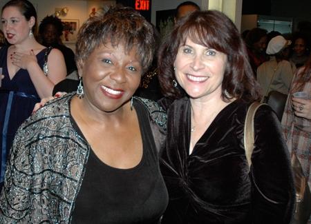 Cast member Sandra Reaves-Phillips and Sandra Lanman -former Crossroads publicist and current Rutgers University publicist