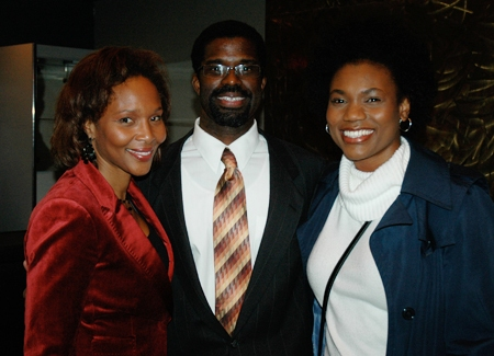 Suzanne Douglas with Crossroads Executive Director Marshall Jones III and his wife and actress Chantal Jean-Pierre