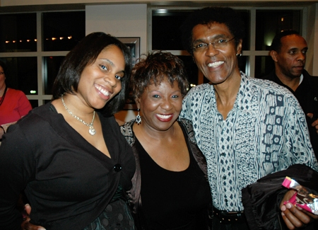 Crossroads Patron Services Director, Brittany Rhodie with cast members Sandra Reaves-Phillips and Chic Street Man