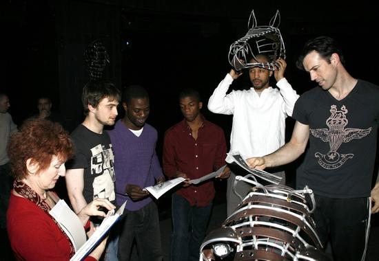 Elaine Bromka, Daniel Radcliffe, Adesola Osakalumi, Kevin Boseman, Marc Spaulding and Lorenzo Pisoni