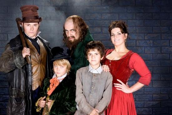Burn Gorman, Eric Dibb Fuller, Rowan Atkinson, Laurence Jeffcoate and Jodie Prenger
