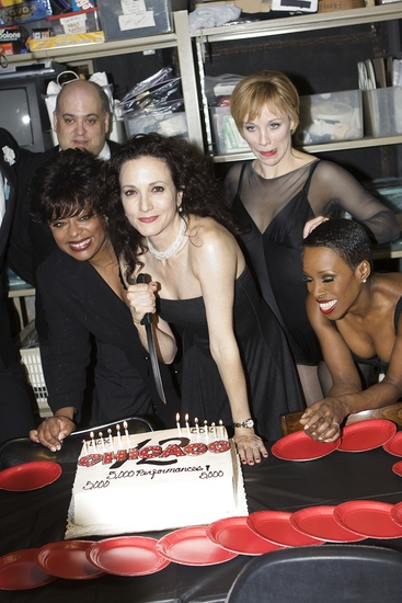 Raymond Bokhour, Lavon Fisher-Wilson, Bebe Neuwirth, Charlotte d'Amboise and Brenda Braxton at CHICAGO Celebrates 12 Years on Broadway