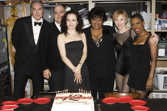 Tom Hewitt, Raymond Bokhour, Bebe Neuwirth, Lavon Fisher-Wilson, Charlotte D'Amboise and Brenda Braxton at CHICAGO Celebrates 12 Years on Broadway