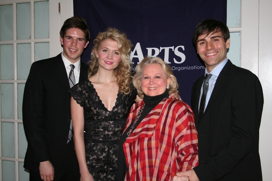 Frank DiLella, Scarlett Strallen, Barbara Cook and Adam Fiorentino