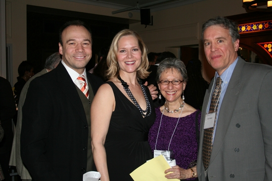 Danny Burstein, Rebecca Luker, NYS Arts Honoree Elysabeth Kleinhans (59E59 Theaters) and Casey Childs (Primary Stages)
