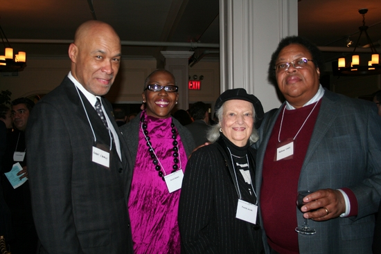 Robert O'Meally, Jackie Harris, NYS Arts Honoree Pheobe Jacobs (Executive VP of the Louis Armstrong Educational Foundation) and George Lewis