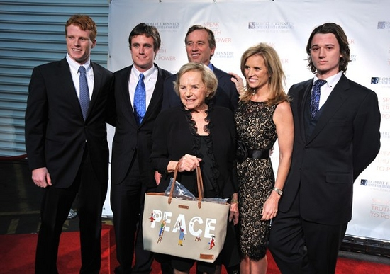 Joseph Kennedy, Matt Kennedy, Ethel Kennedy, and Robert F. Kennedy Jr.