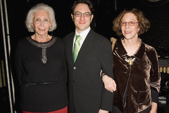 Producer Rhoda Herrick, David Grausman, Martha's son and Martha Clarke