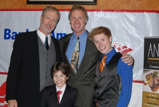 Christian Whelan, Luke Yankee, Jason Edward Cook with David Gabriel Lerner in front