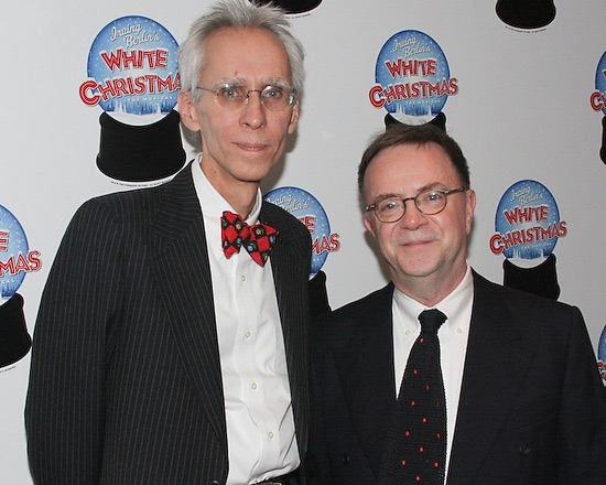 David Ives and Paul Blake at WHITE CHRISTMAS After Party