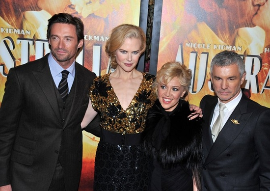 Hugh Jackman, Nicole Kidman, Catherine Martin and Baz Luhrmann at New York Premiere of 'AUSTRALIA'