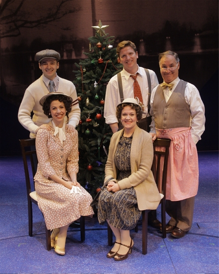 The Baileys (Clockwise from top left) Ryan Foy (as Harry Bailey), Duke Lafoon (as George), Jack Hallett (as Uncle Billy) , Ann Ngaire Martin (as Milly Bailey) and Katie Sina (as Ruth)