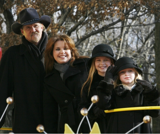 Trace Adkins and family at The 82nd Annual Macy's Thanksgiving Day Parade Part I
