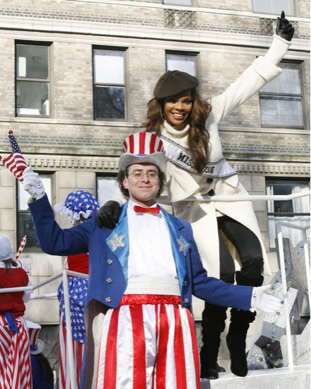 Miss USA 2008 Crystle Stewart and Uncle Sam