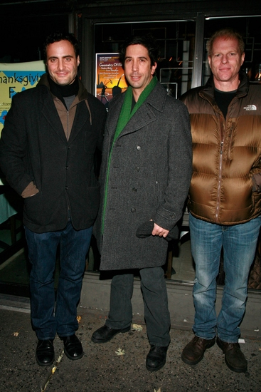 Dominic Fumusa, David Schwimmer and Noah Emmerich at GEOMETRY OF FIRE Opening Night