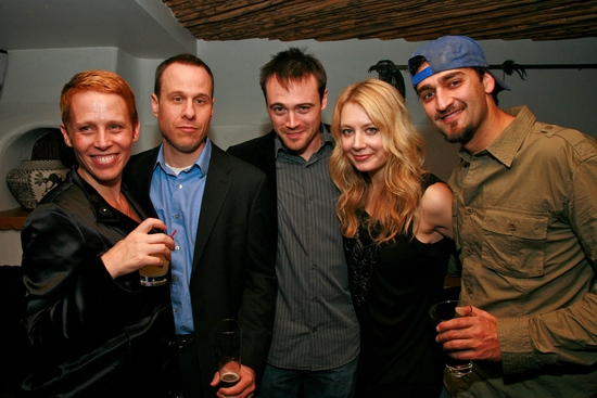 Lucie Tiberghien, Stephen Belber, Kevin O'Donnell, Jennifer Mudge and Donnie Keshawarz