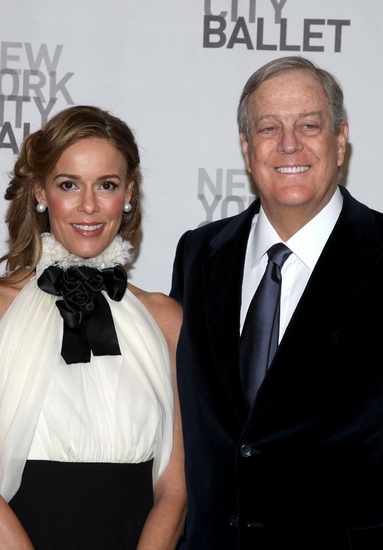 Julia Koch and David Koch