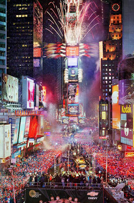 times square new year presentment