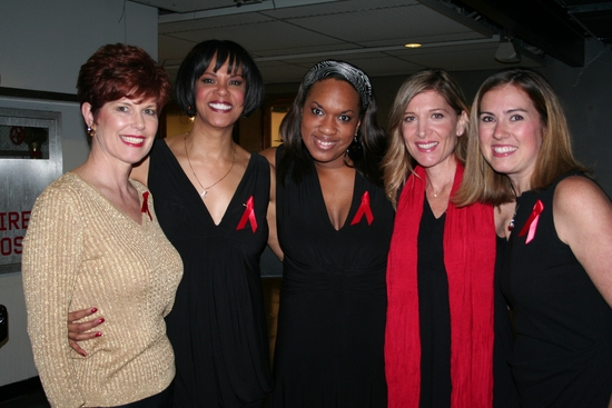 Barbara Porteus, Terry Burrell, Allison Blackwell, Catherine Porter and Holly Hylton