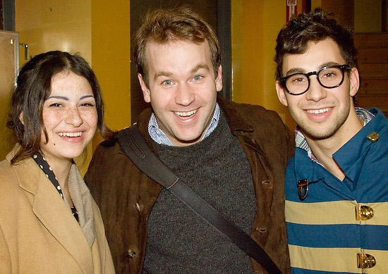 Mike Birbiglia with Alia Shawkat (Arrested Development) and Jack Antonoff (Steel Train)