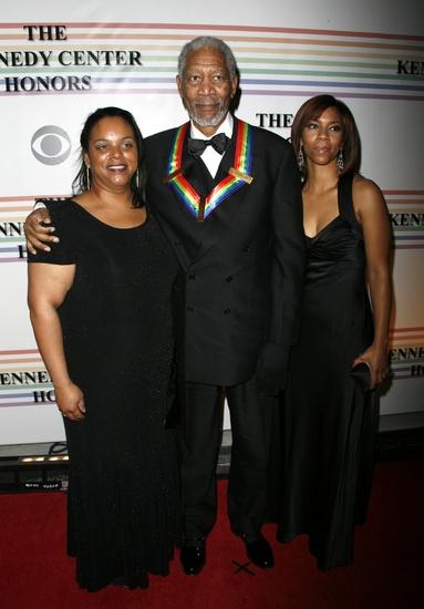Morgan Freeman and family