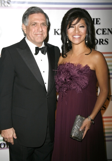 Leslie Moonves and Julie Chen