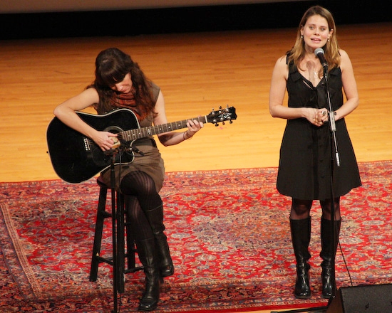 Celia Keenan-Bolger with Matty Wyatt on guitar