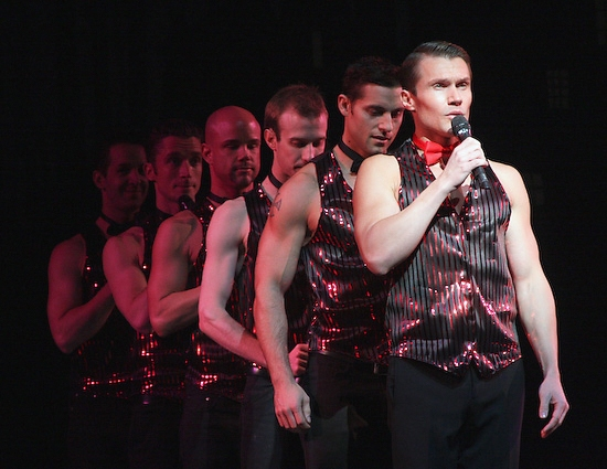 Dave August and the cast of NAKED BOYS SINGING