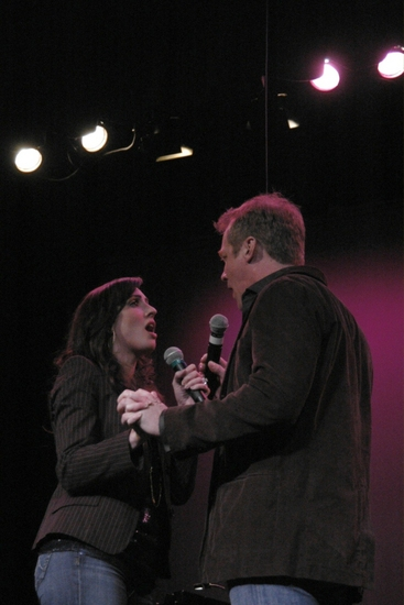 Meredith Inglesby and Steve Blanchard at Irvington's All Star Broadway Holiday Concert
