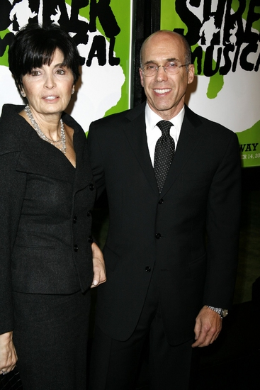 Marilyn Katzenberg and Jeffrey Katzenberg at SHREK The Musical Opening Night Arrivals