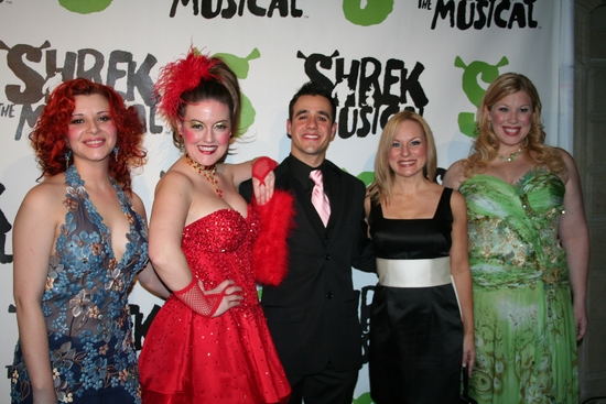 Rachel Stern, Jennifer Simard, Noah Rivera, Carolyn Ockert-Haythe and Heather Jane Rolff at SHREK The Musical Opening Night Party