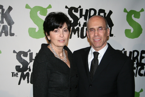 Jeffrey Katzenberg with wife Marilyn Katzenberg at SHREK The Musical Opening Night Party