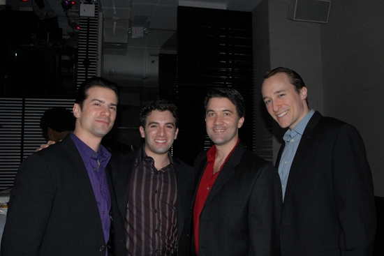 The Jersey Boys-Dominic Nolfi, Jarrod Spector, Miles Aubrey and John Hickman at Broadway Boys Sing For TOYS FOR TOTS