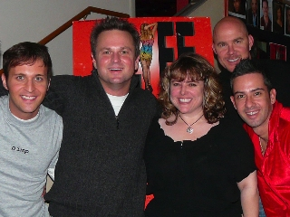 Jeremy Lucas, Sam Harris, Justine Baldwin, Todd Schroeder and Mark Espinosa