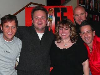 Jeremy Lucas, Sam Harris, Justine Baldwin, Todd Schroeder and Mark Espinosa